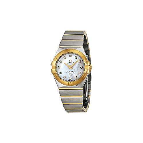 Omega Women's 12320276055002 Constellation Diamond-Accented Stainless Steel and 18k Gold Watch