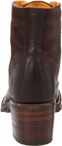 FRYE Women's Sabrina 6G Lace-Up Boot, Dark Brown, 9 M US