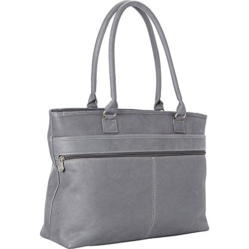 Le Donne Leather Fauna Executive Tote, Gray