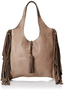 FRYE Farrah Fringe Shoulder Bag, Grey, One Size