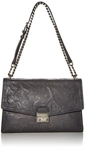FRYE Ella Flap Shoulder Bag, carbon