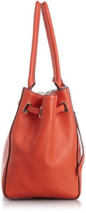 Coach Turnlock Tie Pebbled Small Tote - Watermelon