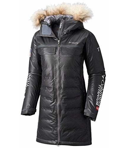 Columbia Women's OutDry Ex Diamond Heatzone Long Parka Jacket, Black, M