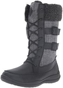 Kamik Women's Addams Snow Boot, Black, 9 M US