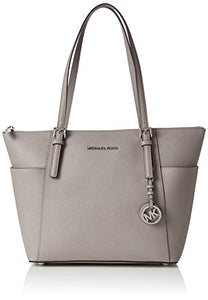 Michael Kors Jet Set East West Top Zip Tote in Pearl Gray