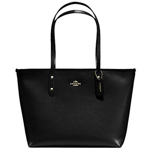 SALE ! New Authentic COACH 'Large New York City Tote' in Black Crossgrain Leather