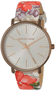 Michael Kors Women's Stainless Steel Quartz Watch with Plastic Strap, Multicolor, 15.3 (Model: MK2895)