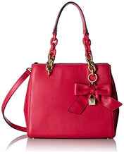MICHAEL Michael Kors Cynthia Small Bow Leather Satchel Bag, Ultra Pink