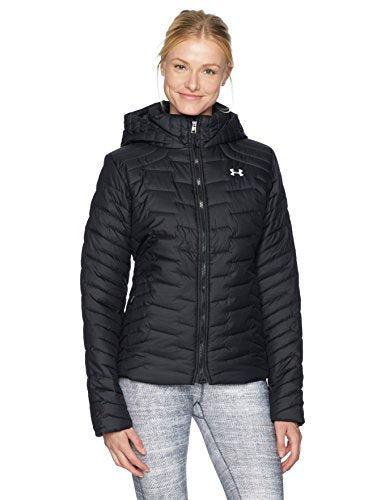 Under Armor Women's ColdGear Reactor Hooded Jacket, Black/Black, X-Small