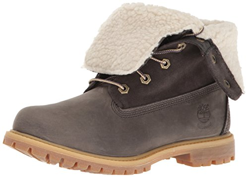 Timberland Women's EK Authentics Teddy Fleece WP Snow Boot,Dark Grey,9 M US