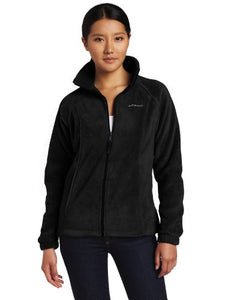 Columbia Women's Benton Springs Full Zip Fleece Jacket, Black, Large
