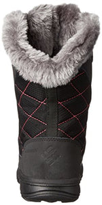 Columbia Youth Ice Maiden Lace Winter Boot (Little Kid/Big Kid), Black, 7 M US Big Kid