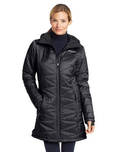 Columbia Women's Mighty Lite Hooded Jacket, Black, Large