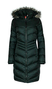 Columbia Womens Polar Freeze Long Down Jacket Omni Heat BLACK Winter Coat (medium)