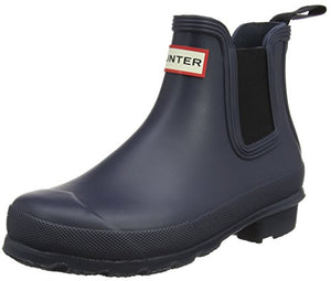 Hunter Womens Original Chelsea Rain Snow Winter Festival Wellington Boot - Navy - 6