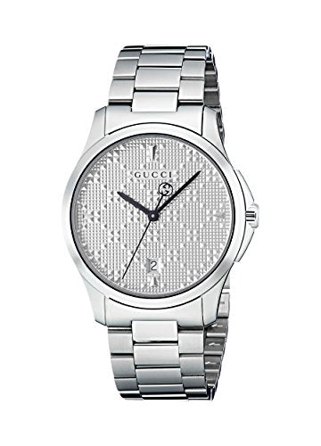 Gucci G-Timeless Diamante Silver Dial Ladies Watch YA1264024
