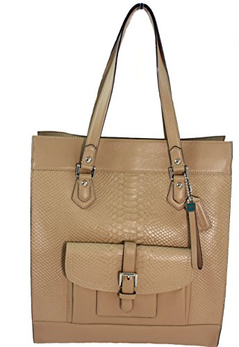 Coach Charlie Leather Shoulder Tote - Camel
