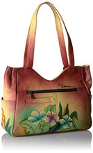 Anna By Anuschka Handpainted Medium Shoulder Bag Mediterranean Garden, Mgr-Mediterranean Garden