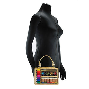 MARY FRANCES Art & Soul Beaded Art Supplies Top Handle Handbag