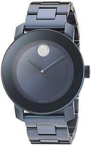 Movado Women's Swiss Quartz Stainless Steel Watch, Color: Blue (Model: 3600388)