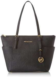 MICHAEL Michael Kors Women's Jet Set Item East/West Trapeze Tote-Black, One Size