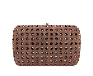 Gucci Women's Brown Suede Broadway Crystal Evening Clutch Bag 310005 5471