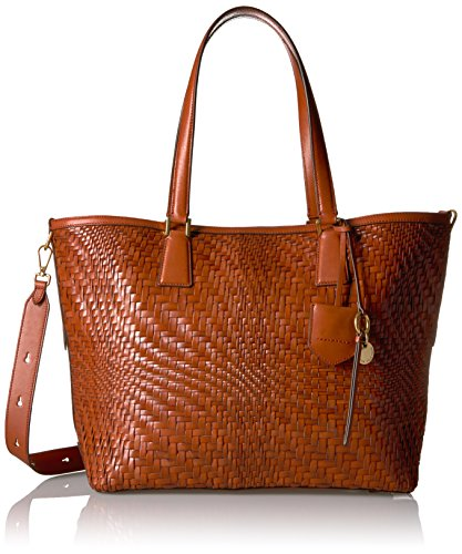 Cole Haan Genevieve Key Item Tote, Brandy Brown, One Size