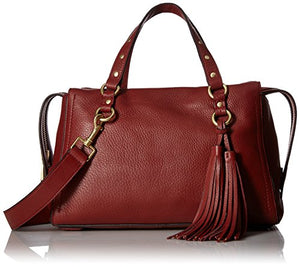 Cole Haan Cassidy Zip Satchel Leather Bag, fired brick