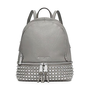 MICHAEL Michael Kors Rhea Studded Backpack (One Size US Women, Pearl Grey)