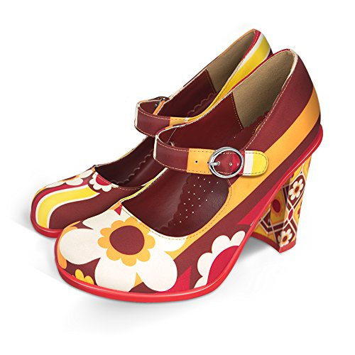 Hot Chocolate Design Chocolaticas High Heels 1970 Women's Mary Jane Pump Multicoloured US Size: 8