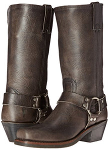 FRYE Women's 12R Harness Boot, Smoke Washed Oiled Vintage, 7.5 M US