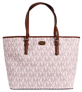 950f639e59f0 Michael Kors Jet Set Travel MK Signature Large Carryall Tote Handbag