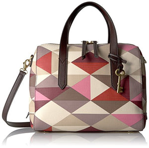 Fossil Sydney Satchel, Red/Multi