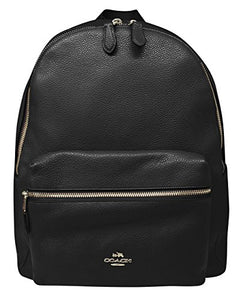 Coach Pebbled Leather Backpack F38288 Black