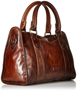 FRYE Melissa Satchel Handbag,Dark Brown,One Size