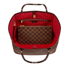 Louis Vuitton Damier Canvas Neverfull MM Red Shoulder Handbag Article: N41358 Made in France