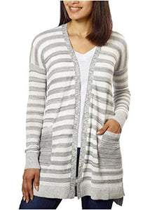Calvin Klein Jeans Ladies' Long Cardigan (Grey, XXL)