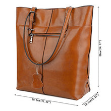 YALUXE Women's Soft Leather Work Tote Shoulder Bag (Upgraded 2.0) Brown