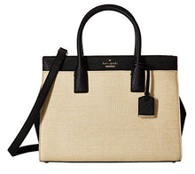 Kate Spade New York Women's Cameron Street Straw Candace Satchel Natural/Black One Size