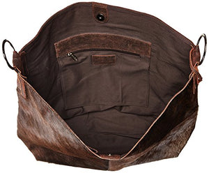 Gottex Women's Durango Cow Hide Tote, Brown, One Size