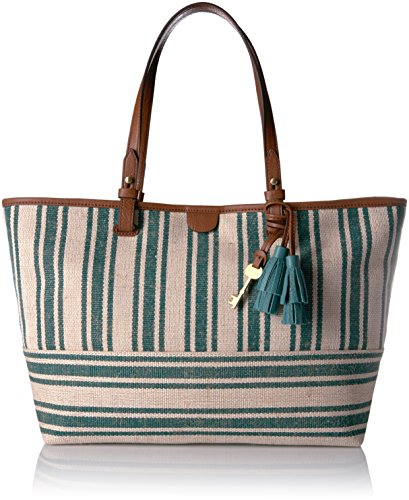 Fossil Rachel E/W Tote Bag, Teal Green/Green