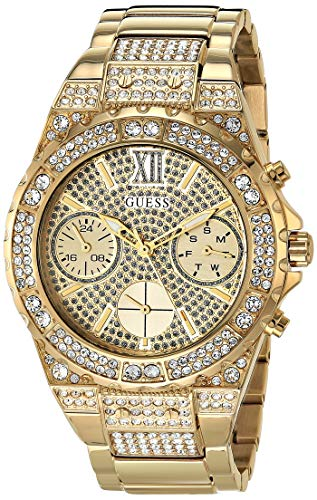 GUESS Women's Analog Watch with Stainless Steel Strap, Gold, 20 (Model: GW0037L2)