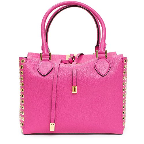 Michael Kors Collection Fuschia Leather Grommet and Silver Miranda