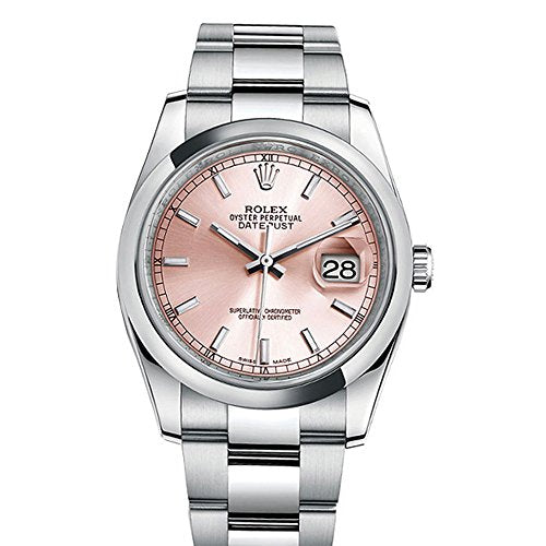 Rolex Datejust 36 Pink Index Dial Oyster Watch 116200