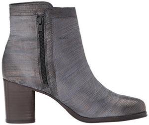 FRYE Women's Addie Double Zip Boot, Pewter Cut Metallic, 6 M US