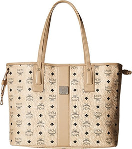MCM Women's Liz Medium Shopper Beige One Size
