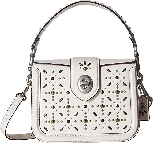 COACH Women's Page Crossbody with Prairie Rivets Lh/Chalk One Size