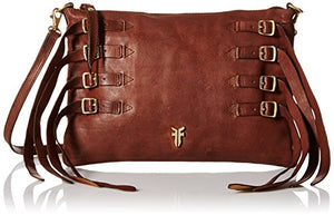 FRYE Women's Selena Strappy Crossbody, Chocolate, One Size