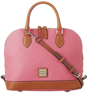 Dooney & Bourke Pebble Grain Zip Zip Satchel,Hot Pink