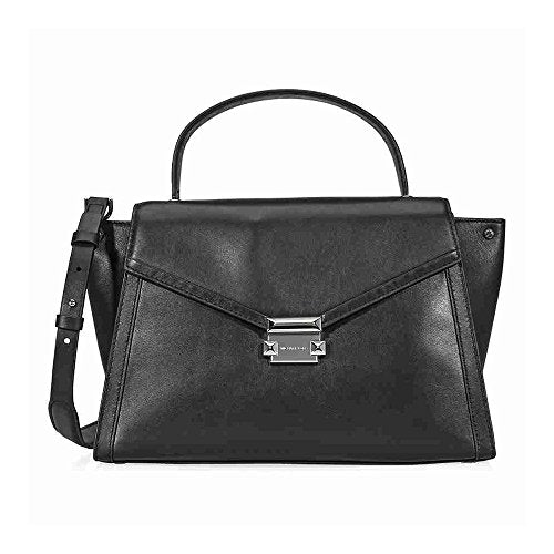 MICHAEL Michael Kors Whitney Large Leather Satchel - Black